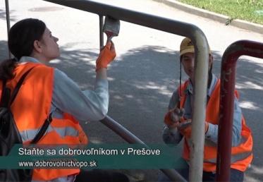 Dobrovoľníci vylepšia Prešov